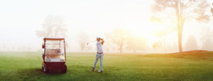 28213957 - beautiful early morning golf game at the course in the sunrise and panoramic view